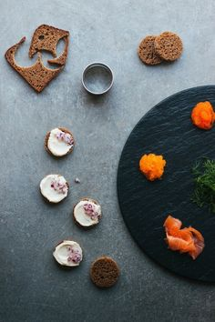 Nordic Canapés with Roe & Gravlax | My Blue&White Kitchen