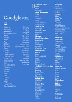google web font poster