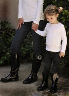 monogrammed sleek rain boots {mommy and me}