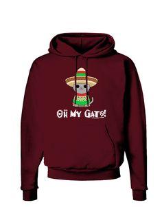 TooLoud Oh My Gato - Cinco De Mayo Dark Hoodie Sweatshirt