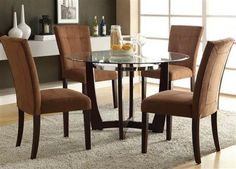 Baldwin Espresso Wood Glass Dinette Sets