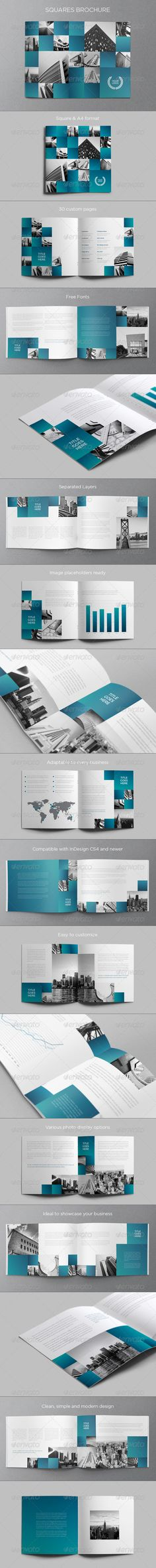 Architecture Squares Brochure #GraphicRiver SQUARES BROCHURE This brochure is an ideal way to showcase your properties.