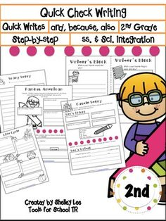 This has 2 parts! Writer's Block and Let's Build a StoryWriter's Block: ***(Includes over 80 half page quick writes!)***This section is meant to help students simply learn to write down their thoughts to avoid writers block during writing time. Topics are fun, easy and familiar.