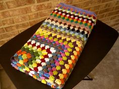 I have the yarn for this!! Lol it's a scrap yarn granny square afghan