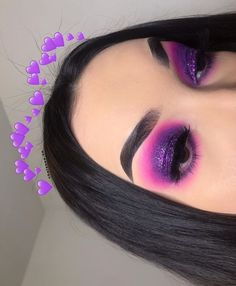 Hottest Photos Style For your choice to an Aesthetic-Plastic Surgery or so-called cosmetic surgery, there are various, sp Makeup Eye Looks, Purple Eye Makeup, Eye Makeup Art, Colorful Eye Makeup, Beautiful Eye Makeup, Crazy Makeup, Cute Makeup, Glam Makeup, Pretty Makeup