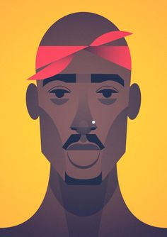 Stanley Chow caricature - Tupac