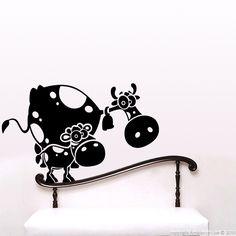 Stickers pour les enfants - Sticker Vache et veau | Ambiance-sticker.com