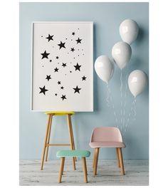 Nursery #Stars, #Nursery #Illustration, #Kids #Poster, Large Nursery Art, #Playroom #Artwork, Kids Room #Decor, Nursery Wall Art,#24x36 Poster Kids by WhitePrintDesign on Etsy