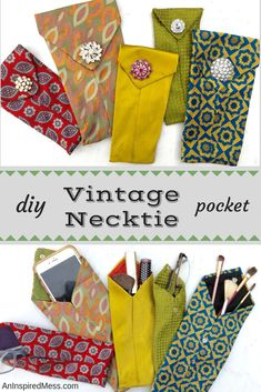 Pretty photo of sewing projects upcycled - DIY Upcycled Crafts Diy Necktie Projects, Easy Sewing Projects, Sewing Projects For Beginners, Sewing Hacks, Sewing Tutorials, Sewing Crafts, Sewing Tips, Craft Projects, Christmas Sewing Projects
