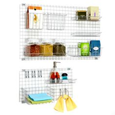 The Container Store > Polytherm Grid System ~ Craft Storage Kitchen Sink Organization, Sink Organizer, Kitchen Pantry, Closet Organization, Kitchen Storage, Room Kitchen, Laundry Storage, Organizing, Kitchen Decor