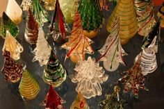 Murano blown glass trees.  While the island near Venice is known for many kinds of glass, the trees are my favorites.