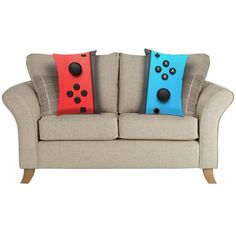 gaming rooms Joy Con Red Left Controller Nintendo Switch inspired Lumbar Cushion Take a break from gaming and sit back and relax on our Nintendo Switch Joy Con controller inspired lumbar Game Room Decor, Room Setup, Gamer Bedroom, Kids Bedroom, Nintendo Room, Nintendo Decor, Nintendo Switch, Mario Room, Ideas Dormitorios