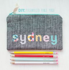 personalized pencil pouch by Vanessa Hewell | Project | Sewing / Bags & Purses | Kids & Baby | Kollabora #diy #kollabora #sewing #kids #bags