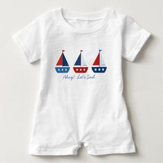 Nautical Sailboats Baby Romper @zazzle #sailboat #sail #boat #boating #zazzle #baby #cute #nautical #sea #ocean #themed #theme #clothes #toddler #boy #girl #fashion #style #apparel #shop #buy #sale #shopping #look #blog #blogging #nice #sweet #cool #awesome #fun