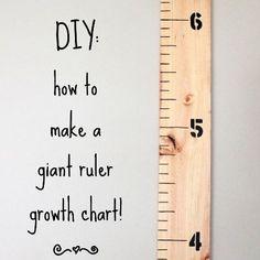 Giant Ruler Growth Chart - DIY