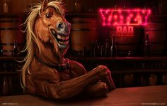 laughs Horse, Sviatoslav Gerasimchuk on ArtStation at https://www.artstation.com/artwork/laughs-horse