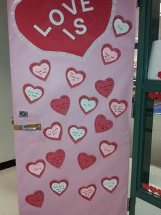 valentine hearts for door