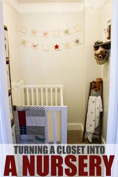 Turning a closet space into a nursery