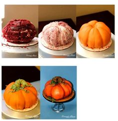 Making a Pumpkin Cake step by step http://www.fernandaabarca.com/sweets/how-to-make-a-pumpkin-cake/
