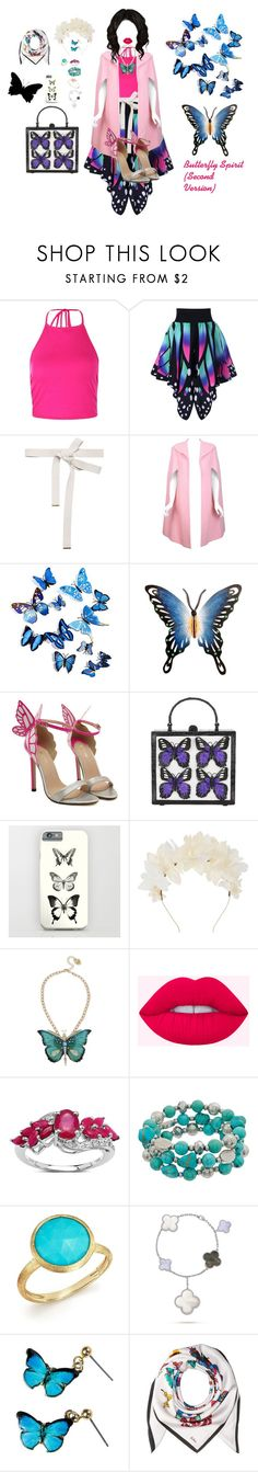 """Butterfly Spirit (Second Version)"" by chloeptlle ❤ liked on Polyvore featuring Boohoo, Marni, Pauline Trigère, NOVICA, Nancy Gonzalez, Lizzie Fortunato, Betsey Johnson, Malaika, Marco Bicego and Echo Design"