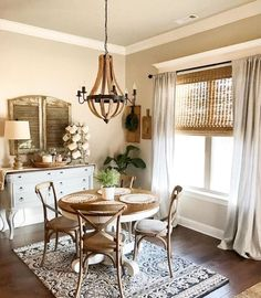 Ideas kitchen window dressing french country dining rooms for 2019 Dining Room Remodel, Country Dining Rooms, Dining Nook, Dining Room Curtains, Dining Room Small, Farmhouse Dining Room, Farmhouse Dining Rooms Decor, French Country Dining Room, Dining Room Furniture