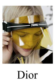 Dior, Mouth Mask Fashion, Campaign Fashion, Workout Attire, Future Fashion, Mask Design, Hair Makeup, Ideas, Sun Visor Hat