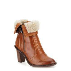 Lisette Blues in Dark Tan Lea - Womens Boots from Clarks