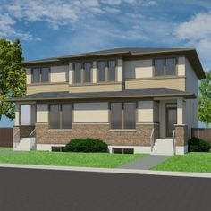 Architecture Plan, Residential Architecture, Walk Through Closet, Home Focus, Duplex Plans, Prairie Style Houses, Townhouse Designs, Kitchen Island With Seating, Semi Detached