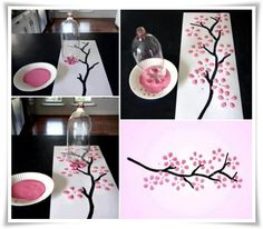 Chinese New Year craft cherry blossom tree Kids Crafts, New Year's Crafts, Arts And Crafts, Chinese New Year Activities, New Years Activities, Chinese New Year Crafts For Kids, Spring Activities, Easy Canvas Painting, Diy Canvas