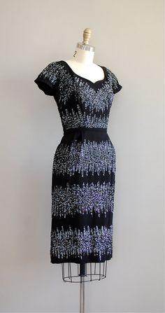 Glace Noire 50s sequin dress