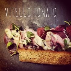 Loved this vitello tonato Cafe Food, Food Plating, Italian Recipes, Food Inspiration, Cravings, Good Food, Appetizers, Favorite Recipes, Healthy Recipes
