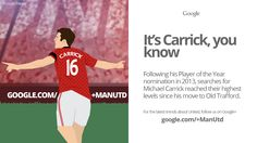 This Google Trend features the time when internet searches for @manutd midfielder Michael Carrick were at their highest.
