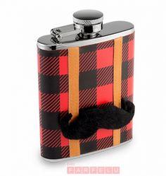 Flasque Lumberjack avec Moustache | acceuil