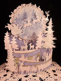 Winter Wonderland Bendi Card by Carol Hurlock