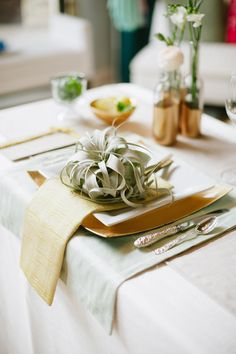 Air plants at every place setting | by Mayhar Design