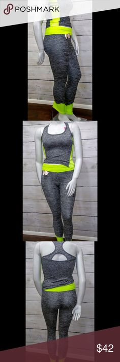 Workout Set 65% poly 35% cotton. Size is xl/xxl and it stretches. Boutique Tops
