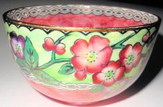 Lovely Maling Pink Thumbprint Sugar Bowl with Apple Blossoms, England Apple Blossoms, English Pottery, Sugar Bowl, Pottery Art, Serving Bowls, Art Deco, England, Tableware, Pink