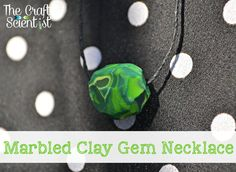 The Crafty Scientist - Marbled Clay Gem Necklace