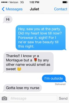 If Romeo and Juliet had iPhones, their balcony scene might have gone a little differently... #Shakespeare