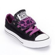 Converse Chuck Taylor All Star Double-Tongue Leopard Shoes - Girls