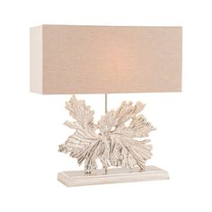 "Fallen Leaf 24"" H Table Lamp with Rectangular Shade"