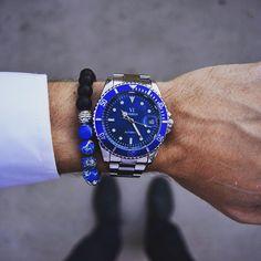 Blue Gemstone Bracelet ($27) - Vodrich. Love it, looks awesome