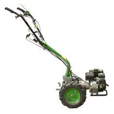 Multimaskin med 6,5 hk motor, flera olika redskap finns