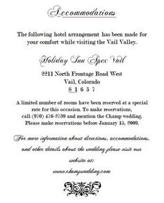 A classic black and white color scheme is used to radiate that the invite accommodations insert weddingbee invitation ideaswedding invitation insertsinvitation wordingwedding filmwisefo
