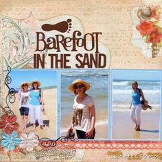 Barefoot in the sand LO. Sketch ~N~ Scrap: Sketch N Scrap Holiday Bonus Sketch! Beach Scrapbook Layouts, Vacation Scrapbook, Scrapbook Layout Sketches, Baby Scrapbook, Scrapbook Albums, Scrapbooking Layouts, Scrapbook Cards, Digital Scrapbooking, Beautiful Sketches
