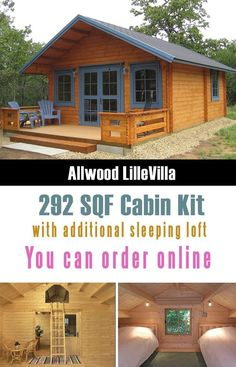 Allwood Lillevilla Cabin is one of the cutest and really affordable prefab tiny houses that you can order from Amazon. #DIY #diyproject