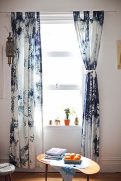 Curtains - Hand dyed 100% cotton tab topped curtains