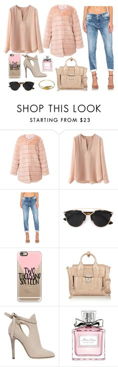 """""""Untitled #327"""" by dindydind ❤ liked on Polyvore featuring Regalect, Christian Dior, Casetify, 3.1 Phillip Lim, Jimmy Choo, Urbiana, women's clothing, women, female and woman"""