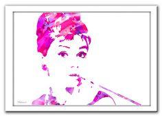Audrey Hepburn print Audrey Hepburn art print by FluidDiamondArt