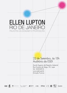 "Poster ""Ellen Lupton x Rio de Janeiro"" by Gustavo Costa and Lorenza Quinzi, via Behance"
